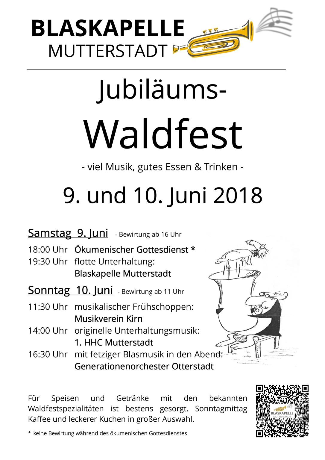 Waldfest-Plakat 2018