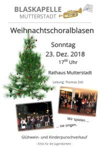 Plakat Weihnachtschoralblasen 2018